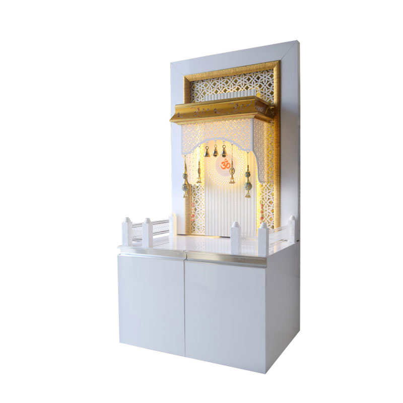 Designer Wooden Mandir 4 Feet with Cabin...