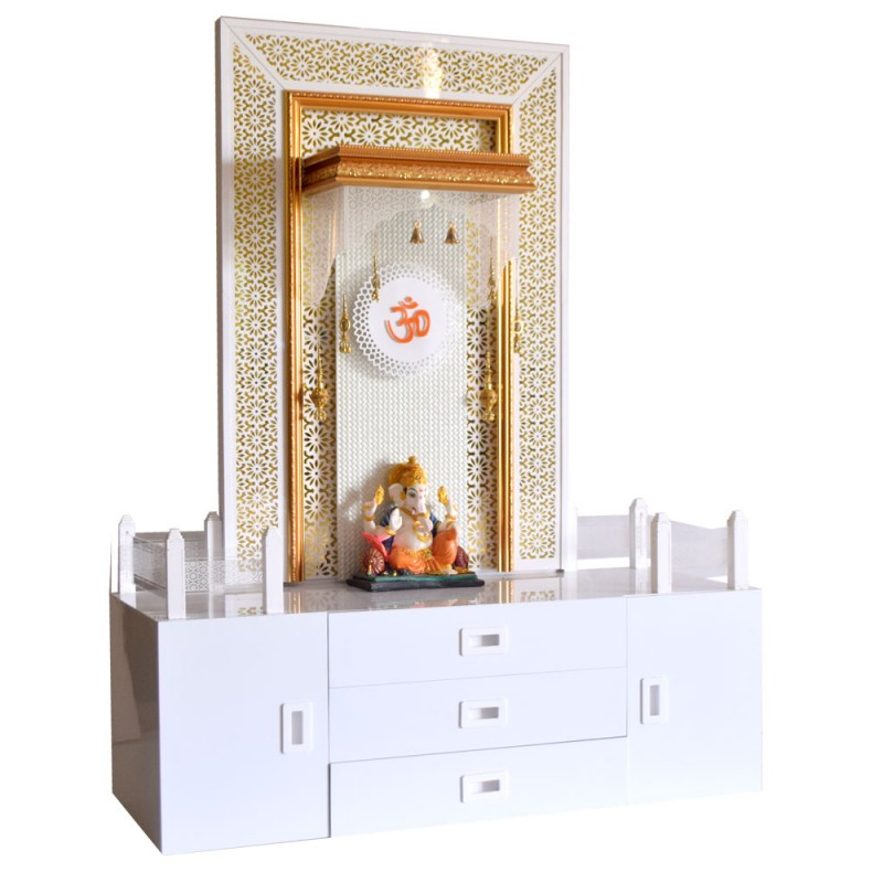 Decorative Home Temple with Extra Storag...