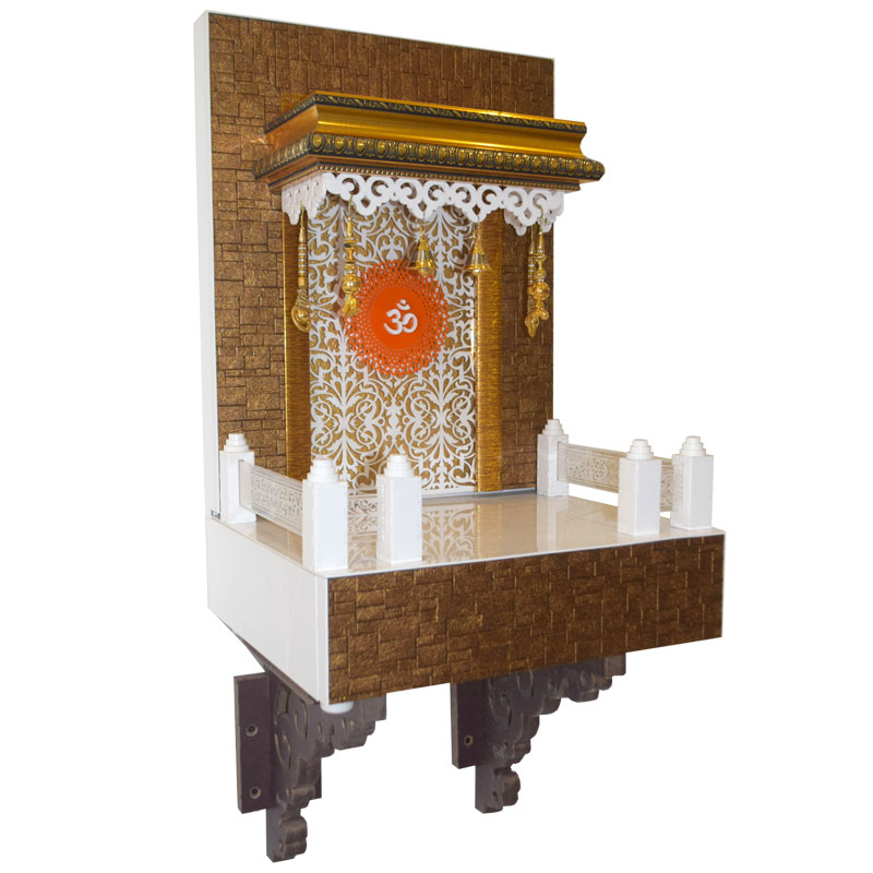 Designer Wooden Mandir 2 FT For Home U0026am.