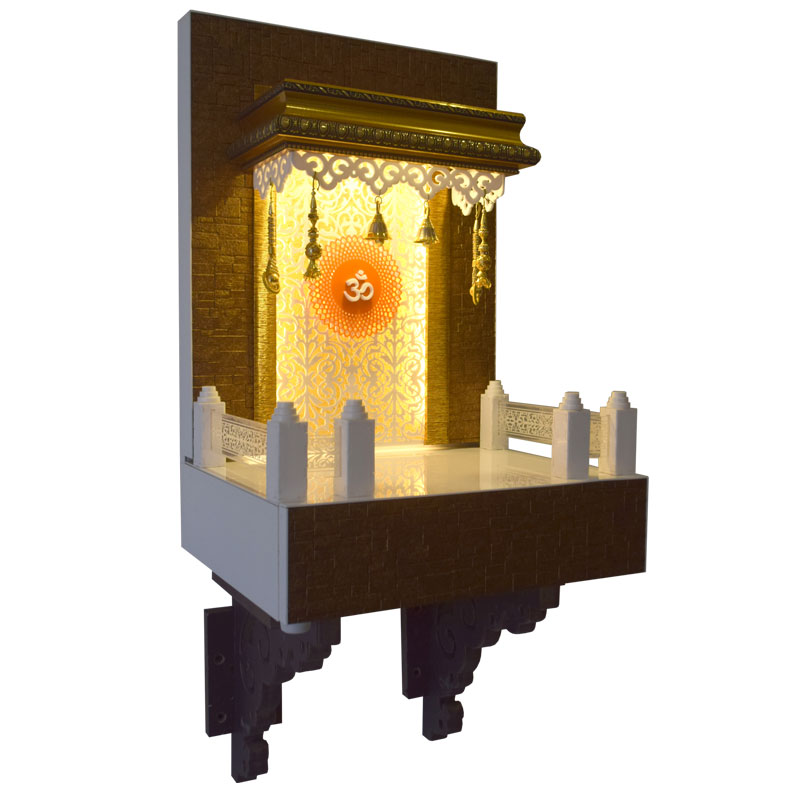Designer Wooden Mandir 2 FT for Home &am...