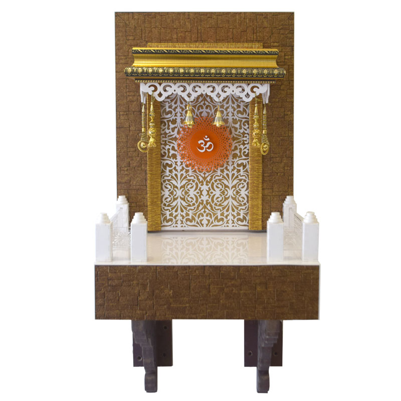 Designer Wooden Mandir 2 FT for Home & Office
