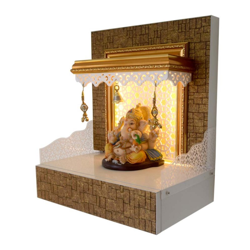 Designer Wooden Mandir with LED Lighting...
