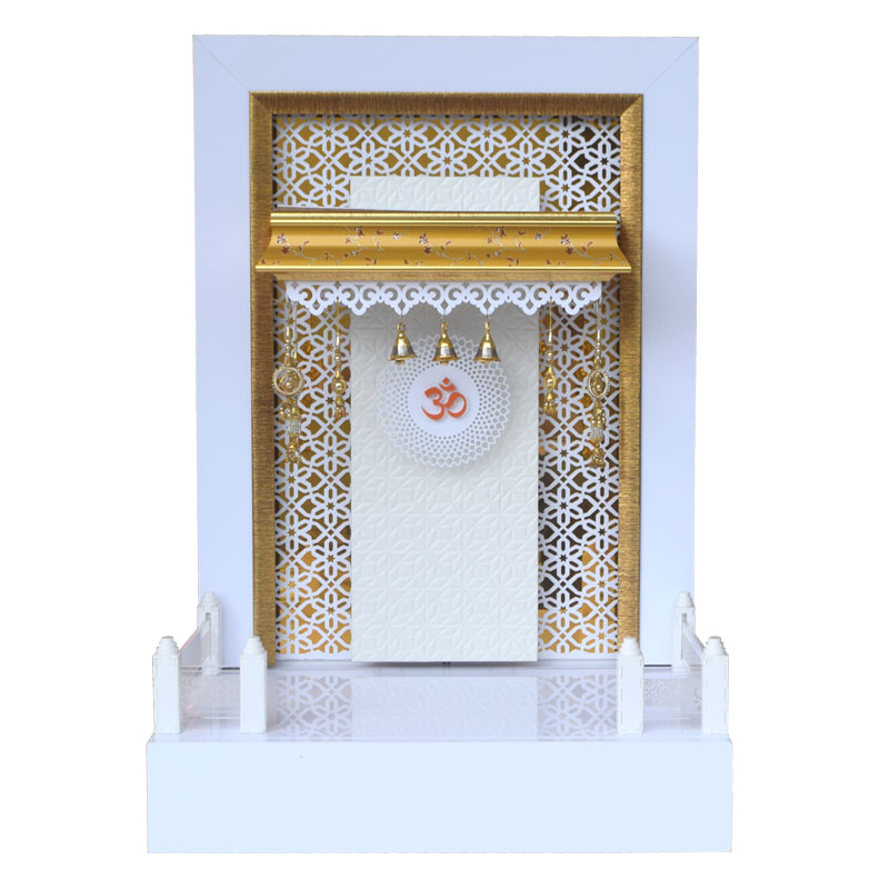 Wooden Mandir 3 FT Height with Drawer a...