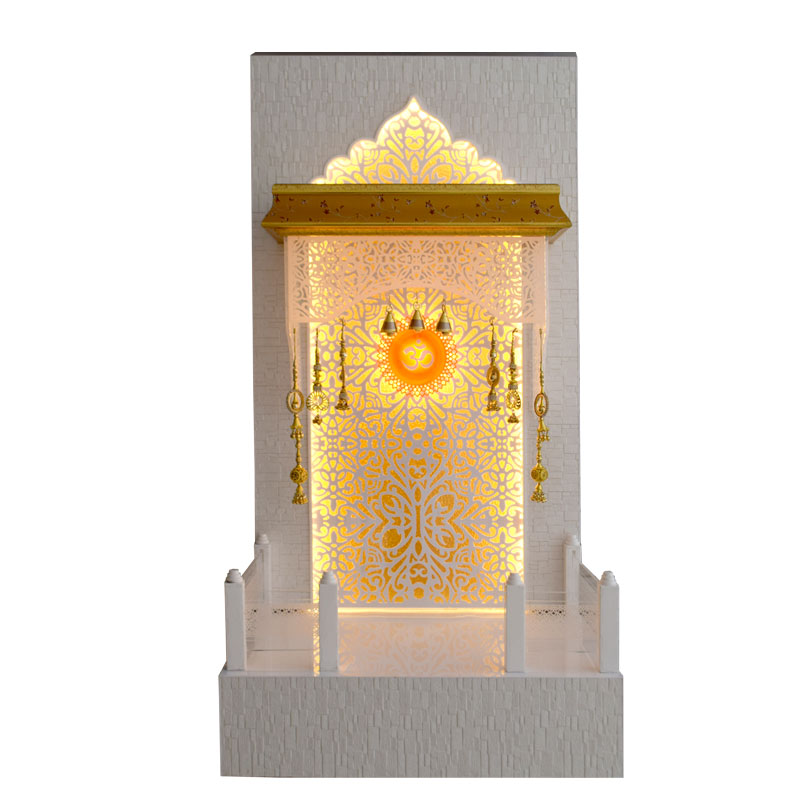 Designer Wooden Pooja Ghar 4 FT Height W...