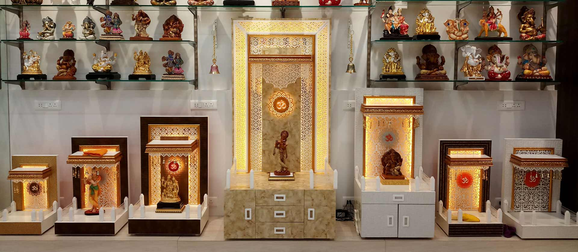 The mandir store designer wooden mandirs home mandirs for Home mandir designs marble
